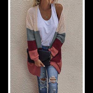 🆕 Colorblock Knit Cardigan